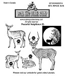 PEACEFUL NEIGHBOUR (5) STATIC MOUNTED RUBBER STAMPS